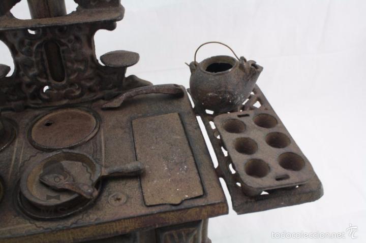 Modelos a escala: Antigua Cocina / Cocinita de Carbón de Juguete - Crescent - Hierro - Años 40-50 - 31 x 15 x 31 cm - Foto 5 - 57150039