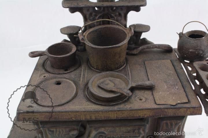 Modelos a escala: Antigua Cocina / Cocinita de Carbón de Juguete - Crescent - Hierro - Años 40-50 - 31 x 15 x 31 cm - Foto 6 - 57150039