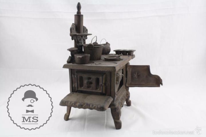 Modelos a escala: Antigua Cocina / Cocinita de Carbón de Juguete - Crescent - Hierro - Años 40-50 - 31 x 15 x 31 cm - Foto 8 - 57150039