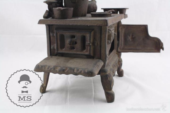 Modelos a escala: Antigua Cocina / Cocinita de Carbón de Juguete - Crescent - Hierro - Años 40-50 - 31 x 15 x 31 cm - Foto 9 - 57150039
