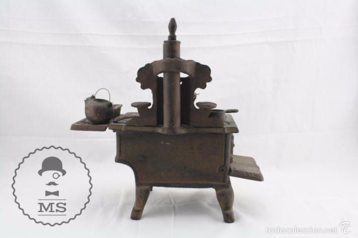 Modelos a escala: Antigua Cocina / Cocinita de Carbón de Juguete - Crescent - Hierro - Años 40-50 - 31 x 15 x 31 cm - Foto 10 - 57150039