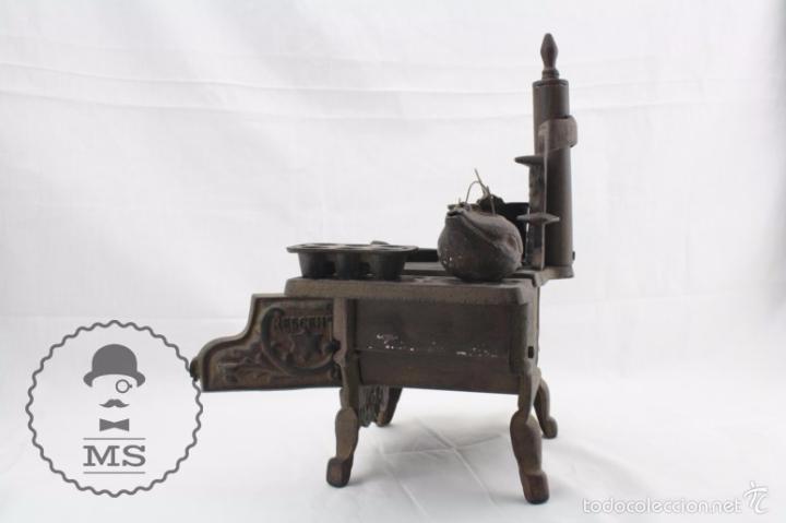 Modelos a escala: Antigua Cocina / Cocinita de Carbón de Juguete - Crescent - Hierro - Años 40-50 - 31 x 15 x 31 cm - Foto 11 - 57150039