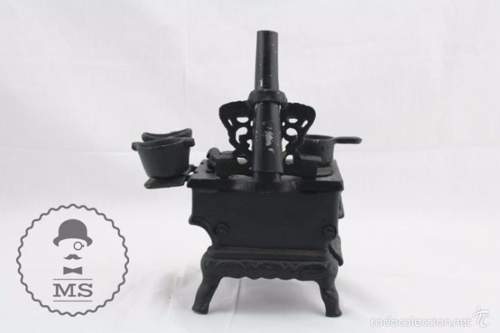 Modelos a escala: Antigua Cocina / Cocinita de Carbón de Juguete - Hierro - Medidas 16 x 11 x 22 cm - Foto 3 - 57150492