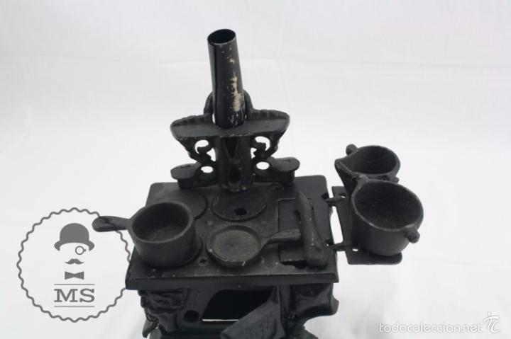 Modelos a escala: Antigua Cocina / Cocinita de Carbón de Juguete - Hierro - Medidas 16 x 11 x 22 cm - Foto 4 - 57150492