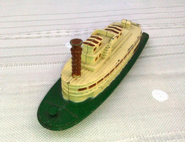 Modelos a escala: Barco de Vapor Ferry a Escala. Pilen. Modelo Naval de Metal en Miniatura. 12cm. Años 80-90. - Foto 4 - 60661707
