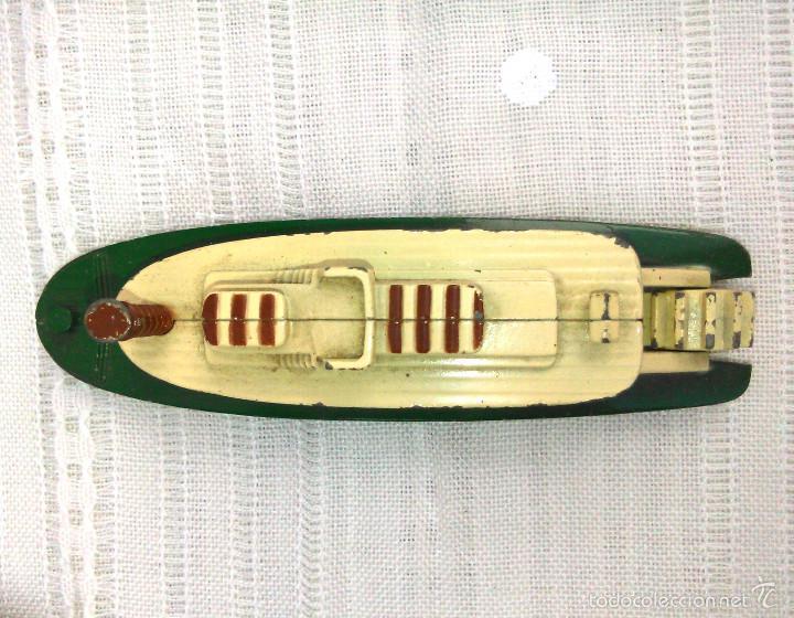 Modelos a escala: Barco de Vapor Ferry a Escala. Pilen. Modelo Naval de Metal en Miniatura. 12cm. Años 80-90. - Foto 5 - 60661707