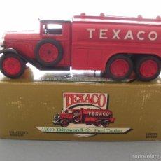 Modelos a escala: HUCHA METAL TEXACO, CAMION DIAMOND TANKER 1930, EDICION LIMITADA Y NUMERADA, NUEVA. Lote 59682423