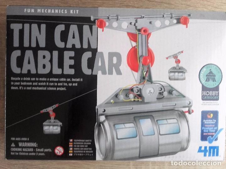 TIN CAN CABLE CAR 4M - TELEFÉRICO DE HOJALATA (Juguetes - Modelos a escala)