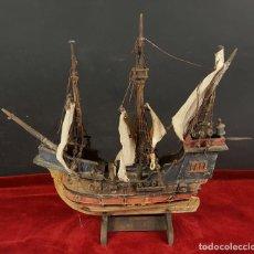 Modelos a escala: MAQUETA EN MADERA DE LA CARABELA SANTA MARIA 1492. ALEMANIA. CIRCA 1950. . Lote 89986892