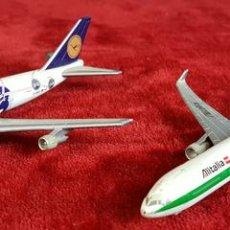 Modelos a escala: PAREJA DE AVIONES A ESCALA. BOEING 747. ALITALIA Y LUFTHANSA. HERPA. CIRCA 1980. . Lote 90408599