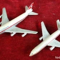 Modelos a escala: PAREJA DE AVIONES DE METAL. SCHUCCO. SWISSAIR. BOEING 747 Y DOUGLAS DC10. AÑOS 70.. Lote 90613725