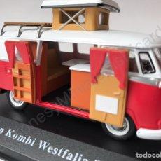 FURGONETA CLÁSICA VOLKSWAGEN KOMBI WESTFALIA SO 42 CARAVANA - VW. AUTOCARAVANA- 1:43 IXO