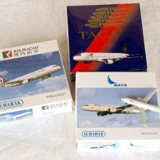 Modelos a escala: SCHABAK 1/600 • AIRBUS A321-A320 (TACA CENTROAMÉRICA - SATA AZORES - AIR MACAU) • METAL ESCALA 1:600. Lote 95623567
