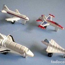 Modelos a escala: MINI AVIONES METAL MINIATURAS ESCALA SPACE SHUTTLE CONCORDE AVION 473 Y F-18 AÑOS 90. Lote 95842287