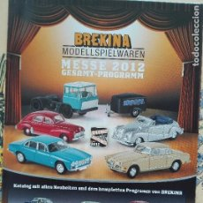 Modelos a escala: CATALOGO BREKINA 2012 - MESSE / GESAMT-PROGRAMM - AUTOMOVIL COCHES - 100GR. Lote 96187735
