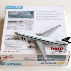 Modelos a escala: HERPA WINGS 1:500 • BOEING MCDONNELL DOUGLAS MD-11 MANDARIN AIRLINES • METÁLICO ESCALA 1/500. Lote 96699991