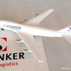 Modelos a escala: HERPA WINGS 1:500 • BOEING 747-200F (CARGO) SCHENKER LOGISTICS • METÁLICO ESCALA 1/500. Lote 96702703