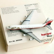 Modelos a escala: HERPA WINGS 1:500 • BOEING 747-200 TRANS WORLD AIRLINES TWA • METÁLICO ESCALA 1/500. Lote 96717431