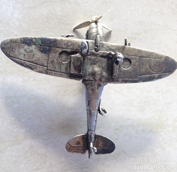 Modelos a escala: SPITFIRE MK V. AVION DE JOYERIA EN PLATA. Escuadron HL A . - Foto 3 - 96894834