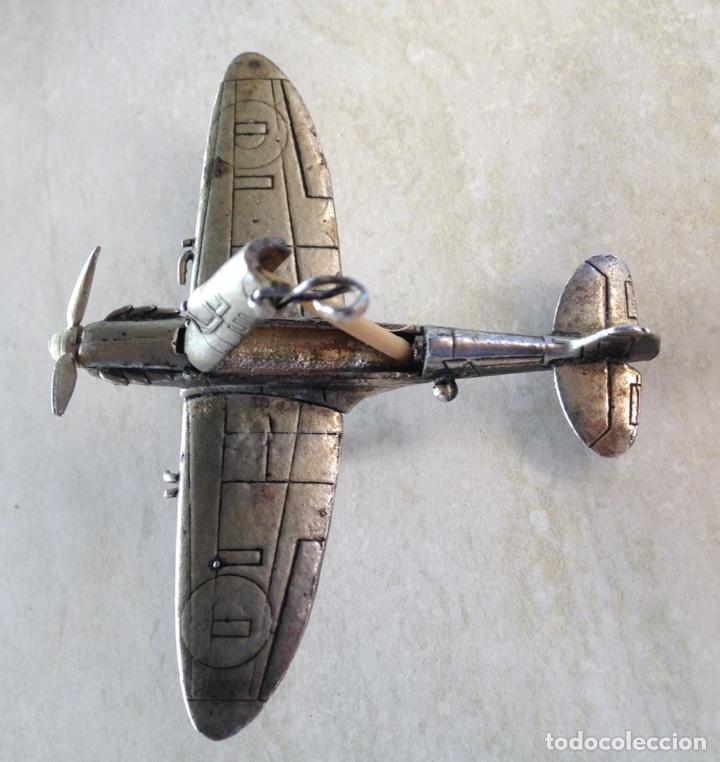Modelos a escala: SPITFIRE MK V. AVION DE JOYERIA EN PLATA. Escuadron HL A . - Foto 5 - 96894834