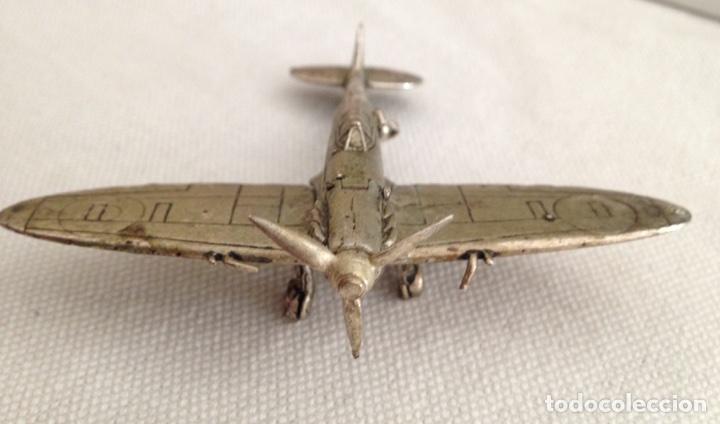 Modelos a escala: SPITFIRE MK V. AVION DE JOYERIA EN PLATA. Escuadron HL A . - Foto 6 - 96894834