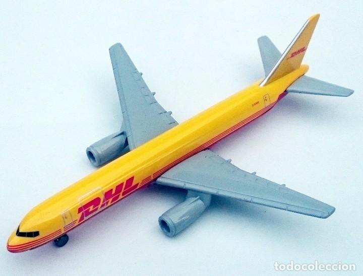 Modelos a escala: DHL PUBLICIDAD ORIGINAL - BOEING 757 AVIÓN DE CARGA - OBSOLETO - Foto 2 - 98165671