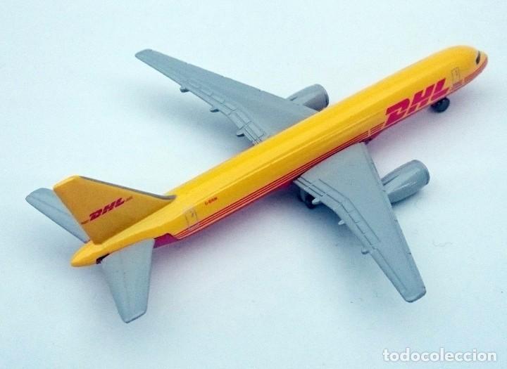 Modelos a escala: DHL PUBLICIDAD ORIGINAL - BOEING 757 AVIÓN DE CARGA - OBSOLETO - Foto 3 - 98165671