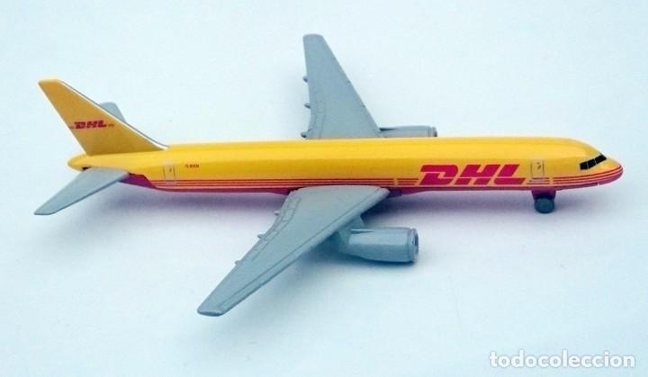 Modelos a escala: DHL PUBLICIDAD ORIGINAL - BOEING 757 AVIÓN DE CARGA - OBSOLETO - Foto 4 - 98165671