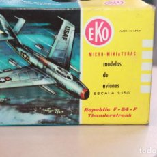 Modelos a escala: AVION MINIATURA EKO ESCALA 1:150 REPUBLIC F-84-F THUNDERSTREAK CAJA ORIGINAL. INFORMACIÓN FOTOS.. Lote 103481703