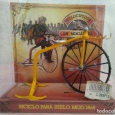 Modelos a escala: BICICLO PARA HIELO EN MINIATURA MOD.1868 REF. 110 DE VELOCIPEDOS ALVAREZ. Lote 109394251