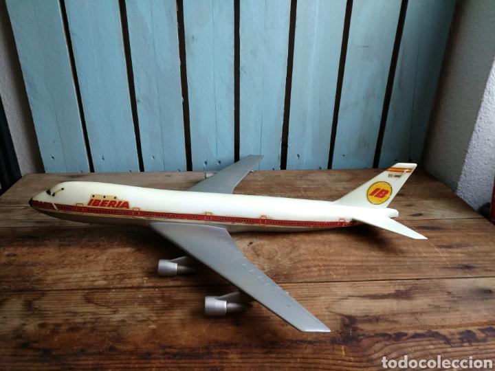Modelos a escala: Antigua y gran maqueta Iberia, Avión Boeing 747Jumbo Pumersa - Foto 2 - 111455559