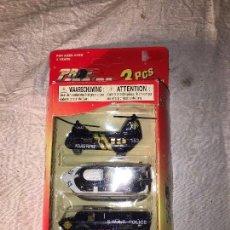 Modelos a escala: HELICOPTERO, CAMIONETA Y LANCHA SWAT DE POLICIA - PRO-ENGINE. Lote 111625475