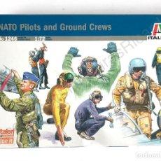 Modelos a escala: FIGURAS PILOTOS NATO (1:72 ) AIRFIX ,SOLDADOS, AVIÓN, PARACAIDISTAS, MILITARES, AIRCRAFT, ITALERI. Lote 119426719
