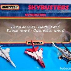 Modelos a escala: MATCHBOX SKYBUSTERS 3 AVIONES HELICOPTERO + SB-22 TORNADO + CONCORDE. Lote 98165259