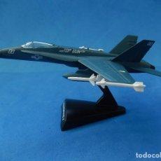 Modelos a escala: PEQUEÑA MAQUETA AVIÓN ESTÁTICA. F-18 HORNET. FABRICADA EN CHINA.. Lote 129379867