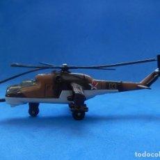 Modelos a escala: PEQUEÑO HELICÓPTERO. MIL MI-24 HIND-D. MATCHBOX SB35. 1990. FABRICADO EN THAILANDIA.. Lote 129522639