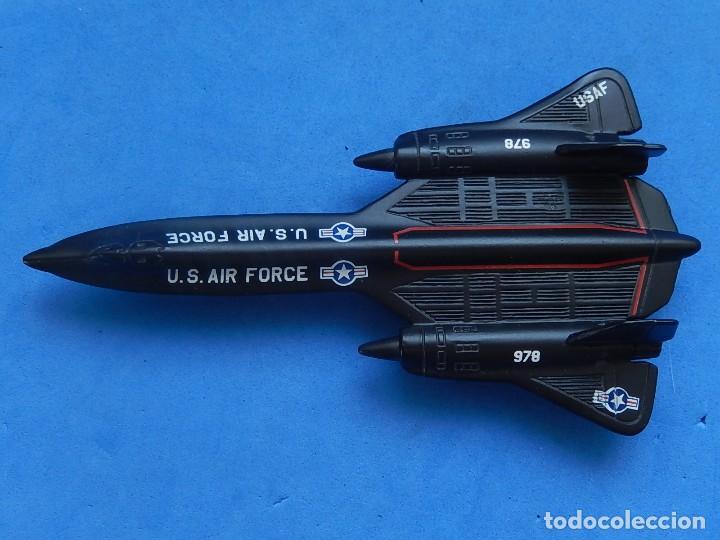 Modelos a escala: Pequeño avión. USAF. SR-71 BlackBird. Matchbox. SB 29. 1989. Fabricado en Tailandia. - Foto 6 - 129546479