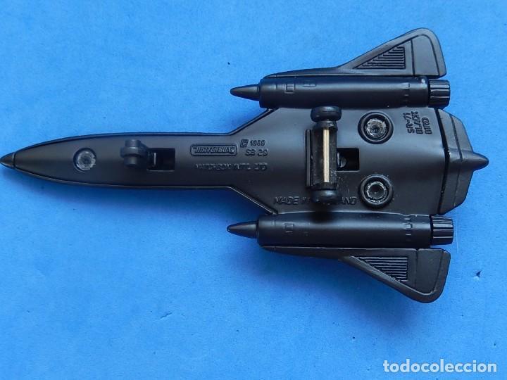 Modelos a escala: Pequeño avión. USAF. SR-71 BlackBird. Matchbox. SB 29. 1989. Fabricado en Tailandia. - Foto 10 - 129546479