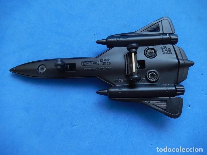 Modelos a escala: Pequeño avión. USAF. SR-71 BlackBird. Matchbox. SB 29. 1989. Fabricado en Tailandia. - Foto 17 - 129546479