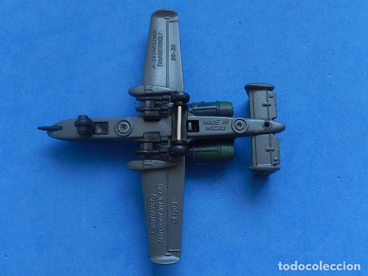 Modelos a escala: Pequeño avión. A-10 Fairchild Thunderbolt. Matchbox. SB 32. 1989. Fabricado en Macau. - Foto 14 - 129547459