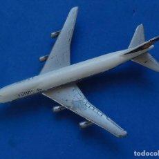 Modelos a escala: PEQUEÑO AVIÓN. BOEING 747. LUFTHANSA. FABRICADO EN ALEMANIA.. Lote 129657619