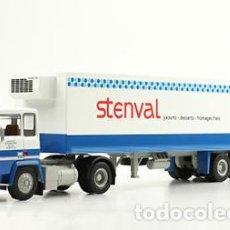 Modelos a escala: CAMIÓN CLÁSICO ARTICULADO BERLIET TR 280 + SEMI-REMOLQUE FRIGORÍFICO STENVAL (1973) - 1:43 RENAULT. Lote 134136034