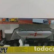Modelos a escala: CAMIÓN DAF 95 XF -430 CABINA BAJA ROJA + REMOLQUE CISTERNA CUBA CEMENTO SPITZER EUROVRAC - JOAL 344. Lote 137385678