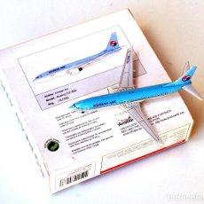 Modelos a escala: AVIATION 400 1:400 • RARO KOREAN AIR (HL7559, C2000) BOEING 737-800 • METÁLICO ESCALA 1/400. Lote 138693798