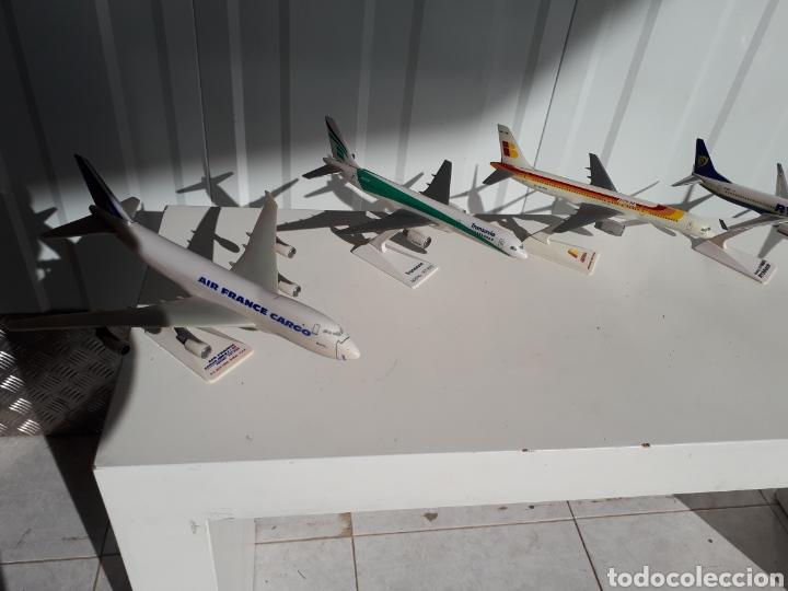 Modelos a escala: Lote de 6 aviones completos a escala compañías aereas - Foto 2 - 143791688