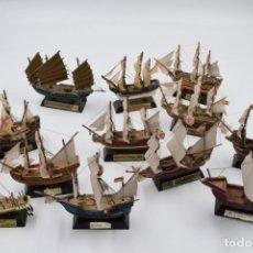 Modelos a escala: LOTE DE 12 VELEROS MÍTICOS - SALVAT 2003 . Lote 144048062