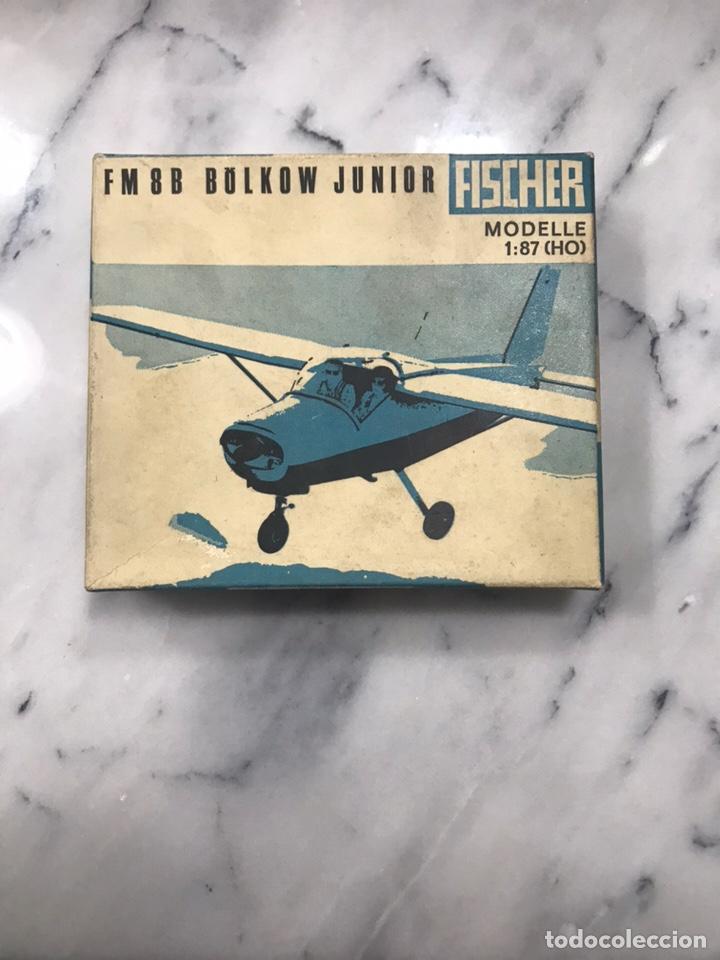 Modelos a escala: Avión juguete Fischer fm 8B Bolkow Junior 1:87 años 60 - Foto 2 - 148994977