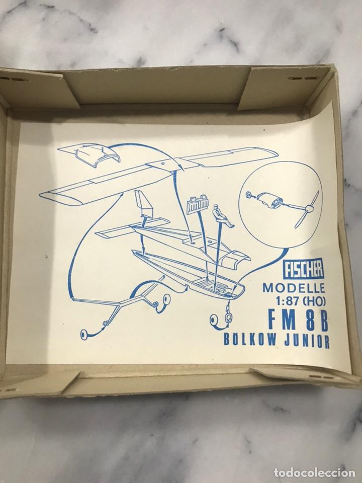 Modelos a escala: Avión juguete Fischer fm 8B Bolkow Junior 1:87 años 60 - Foto 6 - 148994977