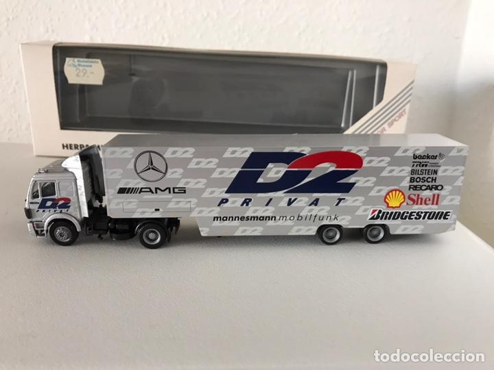 Colección Camión Mercedes Trailer Herpa 87 Precioso F1 De 1 OZuPXki