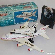 Modelos a escala: TRANSBORDADOR VINTAGE ESPACIAL VINTAGE NASA COLUMBIA AVION BOING 747 // ELECTRICO. Lote 154377242